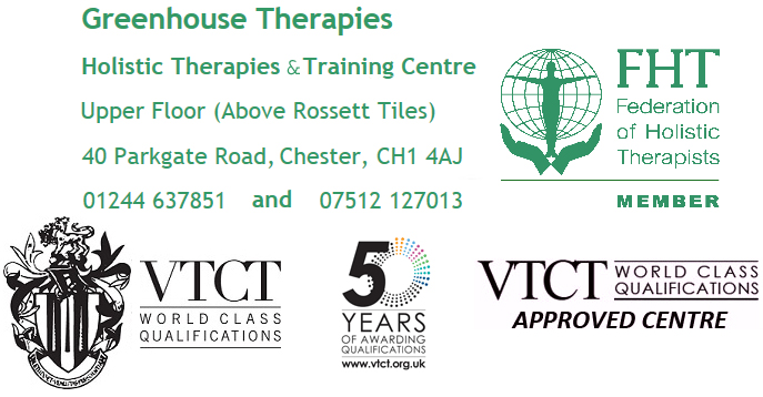 GH Therapies VTCT 50 years training Massage Cheshire